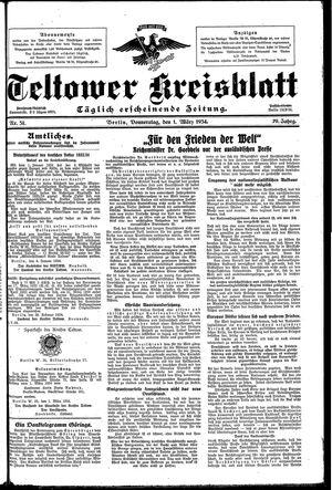 Teltower Kreisblatt vom 01.03.1934