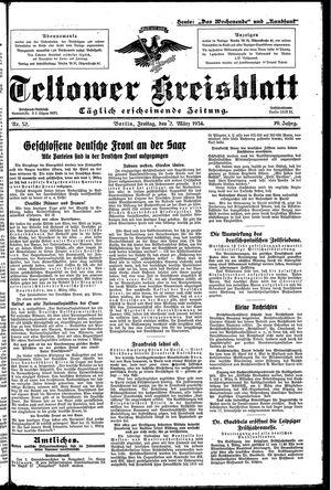 Teltower Kreisblatt vom 02.03.1934