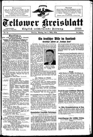 Teltower Kreisblatt vom 05.03.1934