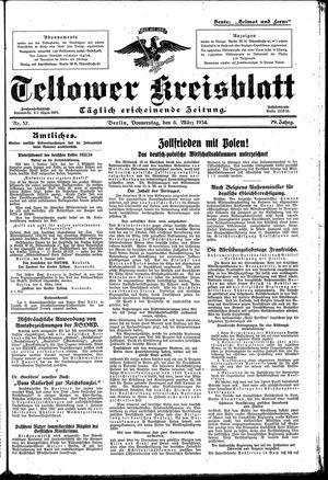 Teltower Kreisblatt vom 08.03.1934