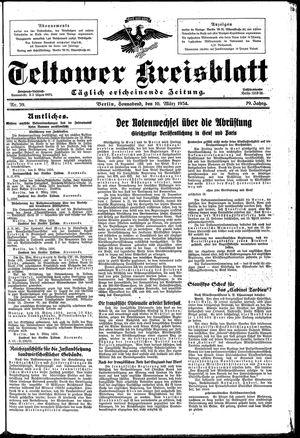 Teltower Kreisblatt vom 10.03.1934