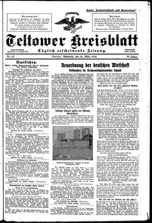 Teltower Kreisblatt on Mar 14, 1934