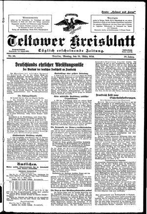 Teltower Kreisblatt vom 19.03.1934