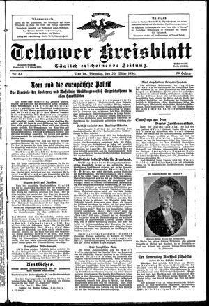 Teltower Kreisblatt vom 20.03.1934