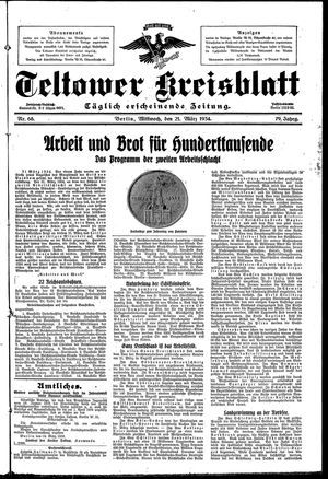 Teltower Kreisblatt vom 21.03.1934
