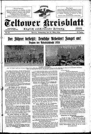 Teltower Kreisblatt vom 22.03.1934