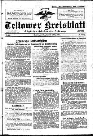 Teltower Kreisblatt vom 23.03.1934