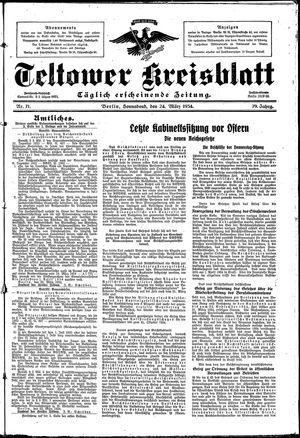 Teltower Kreisblatt vom 24.03.1934