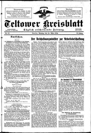 Teltower Kreisblatt vom 26.03.1934