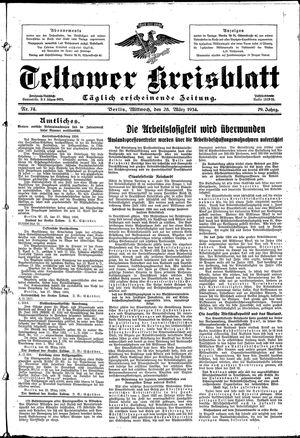 Teltower Kreisblatt vom 28.03.1934