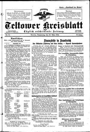 Teltower Kreisblatt vom 29.03.1934