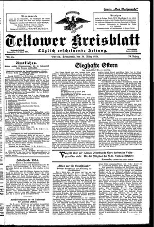 Teltower Kreisblatt vom 31.03.1934