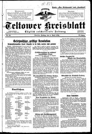 Teltower Kreisblatt vom 06.04.1934
