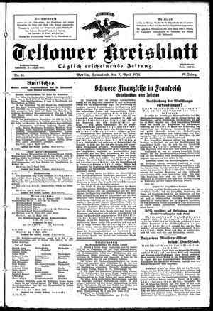 Teltower Kreisblatt vom 07.04.1934