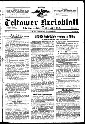 Teltower Kreisblatt vom 10.04.1934