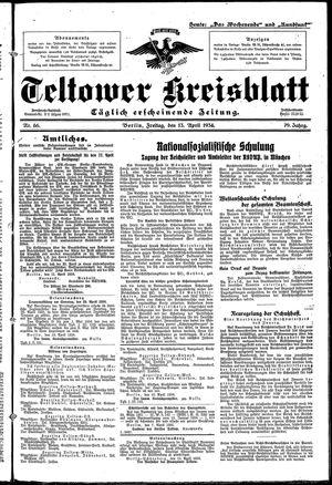 Teltower Kreisblatt vom 13.04.1934