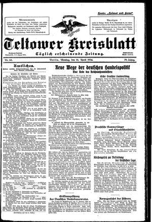 Teltower Kreisblatt vom 16.04.1934