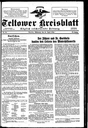 Teltower Kreisblatt vom 18.04.1934