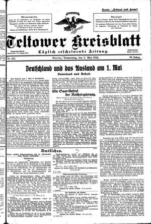 Teltower Kreisblatt vom 03.05.1934