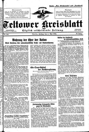 Teltower Kreisblatt vom 04.05.1934
