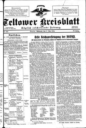Teltower Kreisblatt vom 09.05.1934