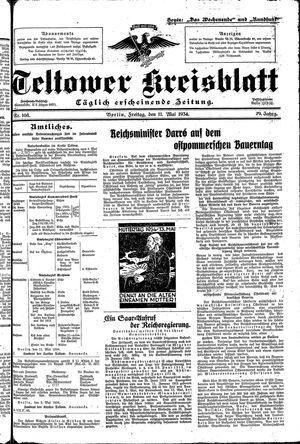 Teltower Kreisblatt vom 11.05.1934