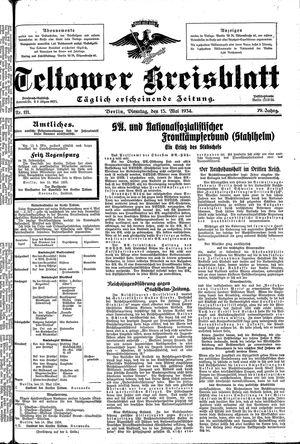 Teltower Kreisblatt vom 15.05.1934