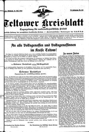 Teltower Kreisblatt vom 16.05.1934