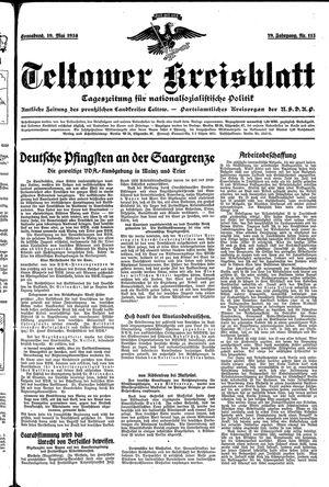Teltower Kreisblatt vom 19.05.1934