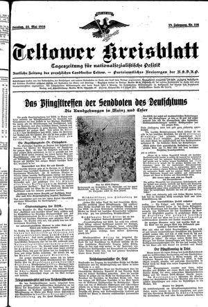 Teltower Kreisblatt vom 22.05.1934
