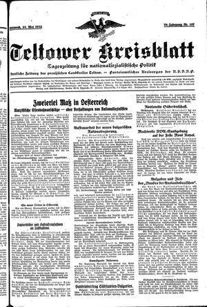 Teltower Kreisblatt vom 23.05.1934
