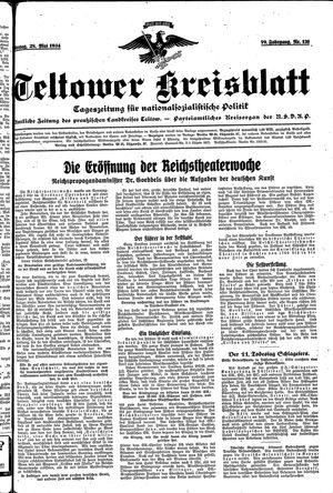 Teltower Kreisblatt vom 28.05.1934