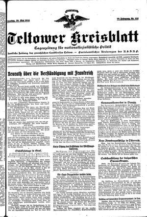 Teltower Kreisblatt vom 29.05.1934