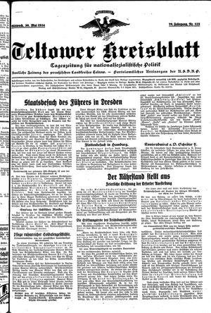Teltower Kreisblatt on May 30, 1934