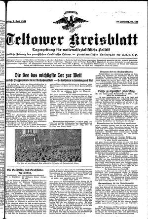 Teltower Kreisblatt on Jun 1, 1934