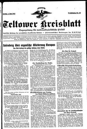Teltower Kreisblatt vom 04.06.1934