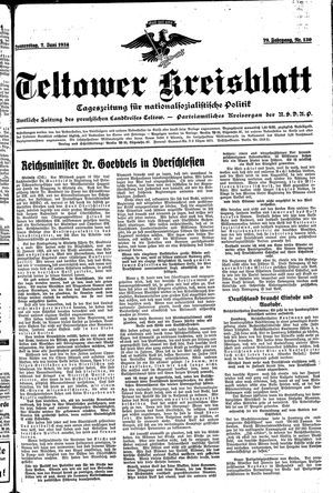 Teltower Kreisblatt vom 07.06.1934