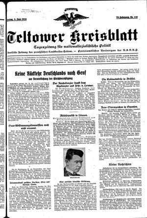 Teltower Kreisblatt vom 08.06.1934