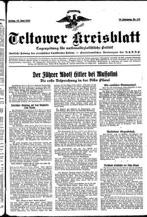 Teltower Kreisblatt vom 15.06.1934