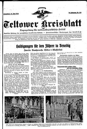 Teltower Kreisblatt vom 16.06.1934