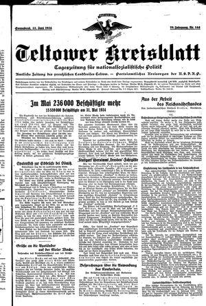 Teltower Kreisblatt vom 23.06.1934