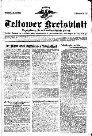 Teltower Kreisblatt vom 30.06.1934