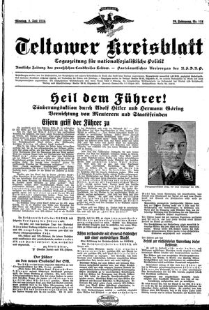 Teltower Kreisblatt vom 02.07.1934