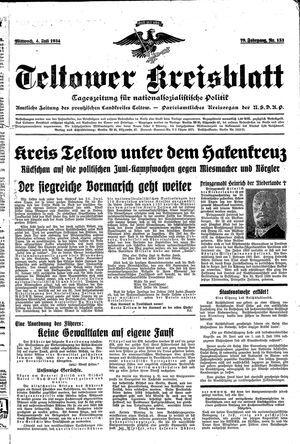 Teltower Kreisblatt on Jul 4, 1934