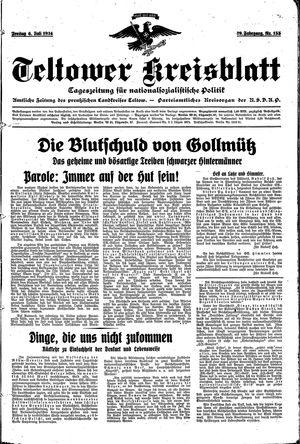 Teltower Kreisblatt on Jul 6, 1934