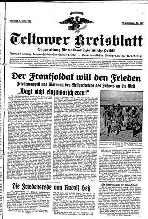 Teltower Kreisblatt vom 09.07.1934