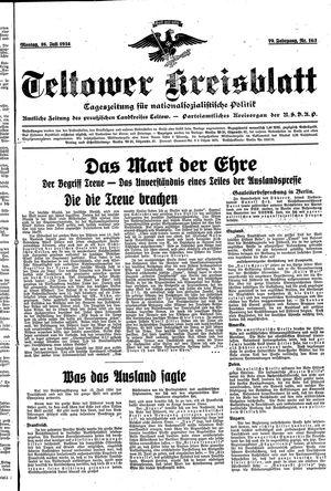 Teltower Kreisblatt vom 16.07.1934