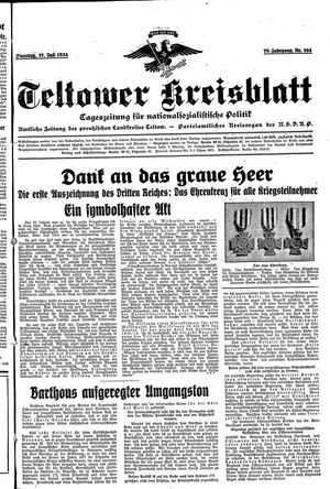 Teltower Kreisblatt on Jul 17, 1934