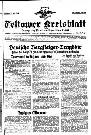 Teltower Kreisblatt vom 18.07.1934
