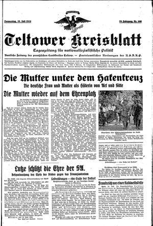 Teltower Kreisblatt vom 19.07.1934